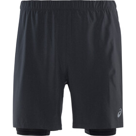 "asics 2-N-1 7"" Shortsit Miehet, performance black/performance black"
